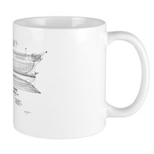 USS Constitution Schematics Mug
