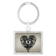 ornate-gothic-heart_bl_snap-toi Landscape Keychain