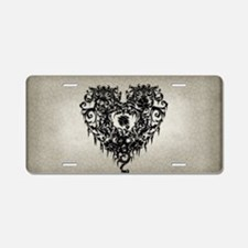 ornate-gothic-heart_bl_snap Aluminum License Plate