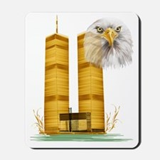 Golden Twin Towers and Eagle Trans Mousepad