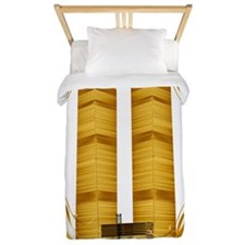 Golden Twin Towers Lettered Trans Twin Duvet