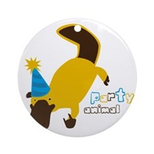 Party Platypus Round Ornament