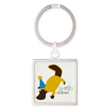 Party Platypus Square Keychain