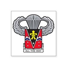 "509thairbornewings2 Square Sticker 3"" x 3"""