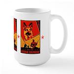 Obey the German Shepherd! Large Mug