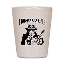 I WANT UKE 2 Shot Glass