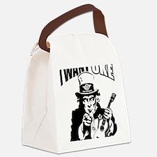 I WANT UKE 2 Canvas Lunch Bag