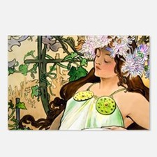 Mucha Fall Clutch Postcards (Package of 8)