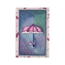 umbrellapink Rectangle Magnet