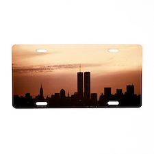 Dawn Over Liberty Aluminum License Plate