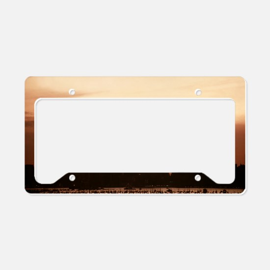 Dawn Over Liberty License Plate Holder