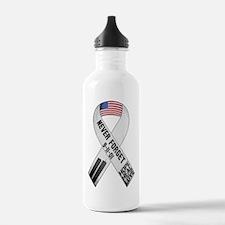 911-Ribbon-Sticker Water Bottle