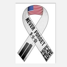 911-Ribbon-Sticker Postcards (Package of 8)