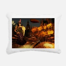 steampunklady_miniposter Rectangular Canvas Pillow