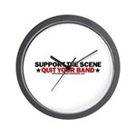Support The Scene Wall Clock