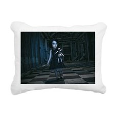 scissor girl Rectangular Canvas Pillow