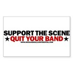 Support The Scene Rectangle Sticker