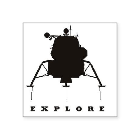 """LM_Explore_RK2011_10x10 Square Sticker 3"""" x 3"""""""