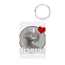 I Love Dragons Keychains