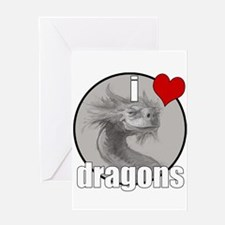 I Love Dragons Greeting Cards