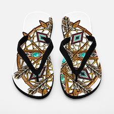 Beads and Arrows Mandala Flip Flops