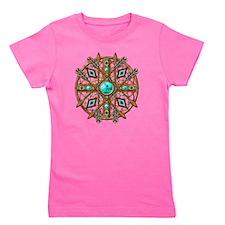 Beads and Arrows Mandala Girl's Tee