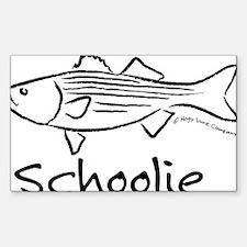 schoolieblack Sticker (Rectangle)