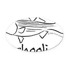 schoolieblack Oval Car Magnet
