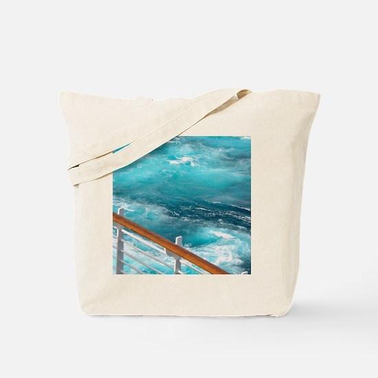 CruiseShipWake Tote Bag