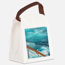 CruiseShipWake Canvas Lunch Bag