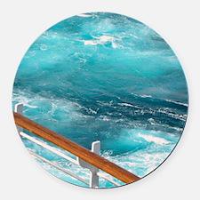 CruiseShipWake Round Car Magnet