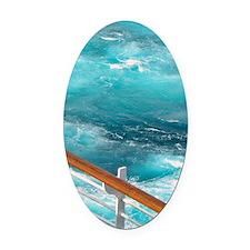 CruiseShipWake Oval Car Magnet
