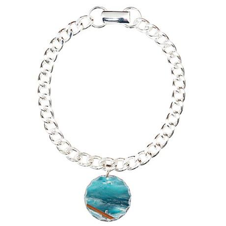 CruiseShipWake Charm Bracelet, One Charm