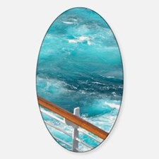CruiseShipWake Sticker (Oval)