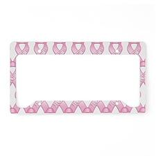 PinkHopeRibLapTsTr License Plate Holder