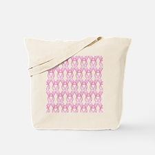 PinkHopeRibbonPt Tote Bag