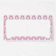 PinkHopeRibbonMgP License Plate Holder