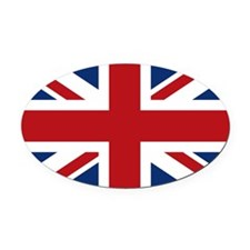 union-jack_snap-mess Oval Car Magnet