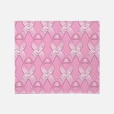 PinkHopeRibPmpPk Throw Blanket