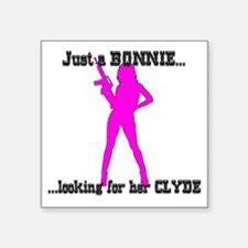 "JustBonnie Square Sticker 3"" x 3"""