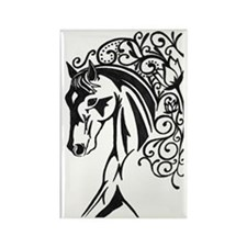 Graphic Horse Rectangle Magnet