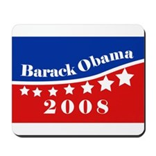 eej Obama rect red/blue star Mousepad