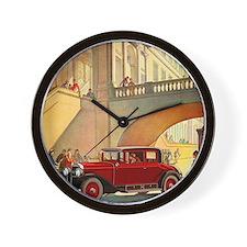 1928 Cadillac-10 Wall Clock