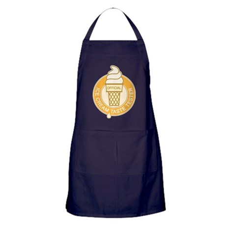 ice cream tester orange Apron (dark)