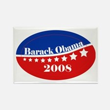 eej Obama red/blue star Rectangle Magnet