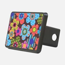 Retro Flowers Bags Hitch Cover