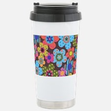 Retro Flowers Bags Travel Mug