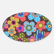 Retro Flowers Bags Decal