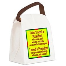 I need a president Canvas Lunch Bag