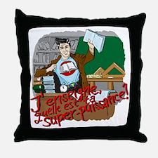 male super teacher french Throw Pillow